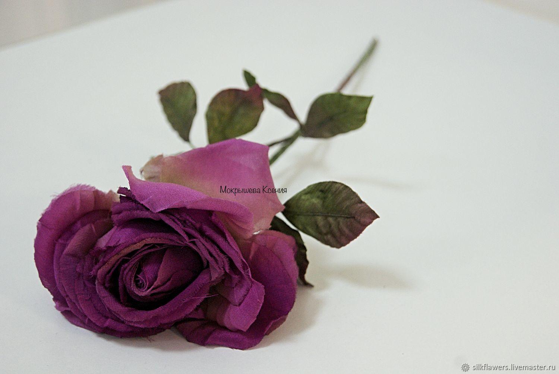 Интерьерная роза из шелка, Растения, Пермь, Фото №1