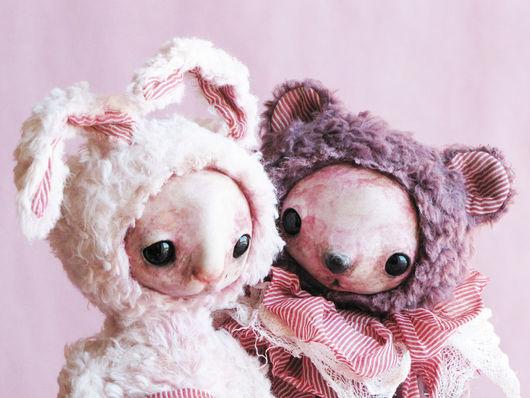 Мишки Тедди ручной работы. Ярмарка Мастеров - ручная работа. Купить Мэрилин и Джон. Handmade. Друзья тедди, мишка, игрушки