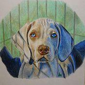 Картины и панно ручной работы. Ярмарка Мастеров - ручная работа Портрет собаки карандашом. Handmade.