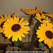 Цветы и флористика ручной работы. Ярмарка Мастеров - ручная работа Подсолнухи. Handmade.