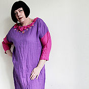 """Одежда ручной работы. Ярмарка Мастеров - ручная работа Платье из льна """"Римма"""". Handmade."""