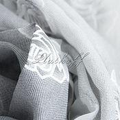 "Аксессуары handmade. Livemaster - original item Серый льняной  женский палантин из ткани Chanel ""Мечты из роз"". Handmade."