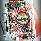 """Канцелярские товары ручной работы. Ярмарка Мастеров - ручная работа Блокнот """"Оранжевое настроение"""". Handmade."""