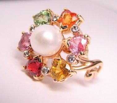 Кольца ручной работы. Ярмарка Мастеров - ручная работа. Купить Кольцо с камнями. Handmade.
