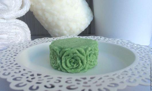 Шампунь ручной работы. Ярмарка Мастеров - ручная работа. Купить Кедровый твердый шампунь с аминокислотами шелка и кератином. Handmade. Зеленый