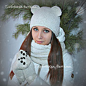Аксессуары handmade. Livemaster - original item Scarf ,Snood and mittens