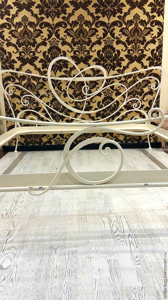 Wrought iron bed white, Bed, Moscow,  Фото №1