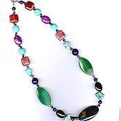 Украшения handmade. Livemaster - original item Beads from natural stones tourmaline turquoise chrysoprase. Handmade.