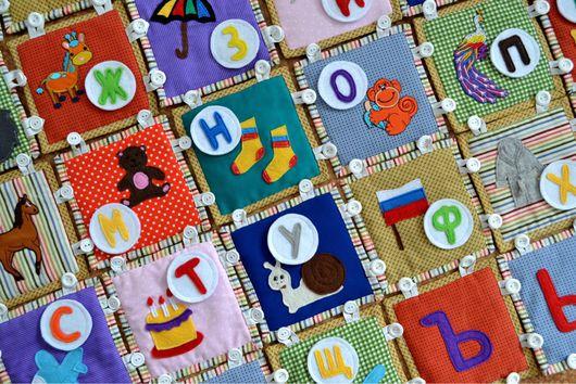 Развивающие игрушки ручной работы. Ярмарка Мастеров - ручная работа. Купить Развивающий массажный коврик-азбука. Handmade. Ращвивающая игрушка