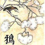 Картины ручной работы. Ярмарка Мастеров - ручная работа Картина акварелью. Ворона. Handmade.