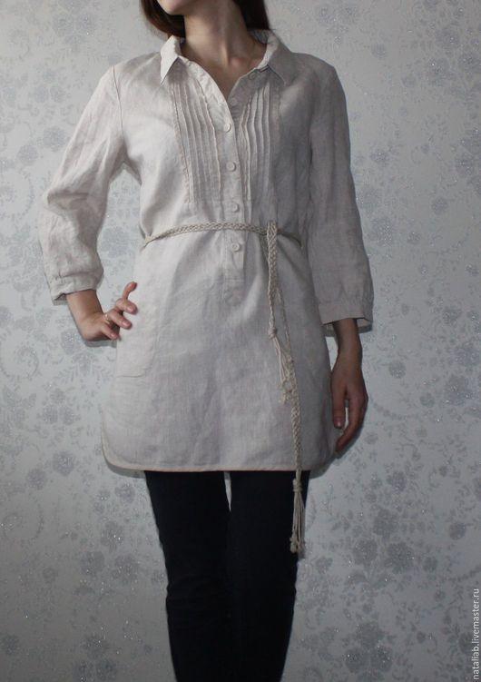 Платья ручной работы. Ярмарка Мастеров - ручная работа. Купить Льняное платье-рубашка. Handmade. Серый, льняная одежда