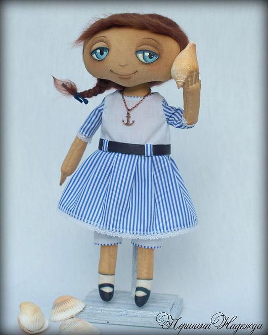 Ароматизированные куклы ручной работы. Ярмарка Мастеров - ручная работа. Купить Маришка. Девочка слушающая ракушку. Интерьерная Кофейная Кукла. Handmade.