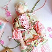 Куклы Тильда ручной работы. Ярмарка Мастеров - ручная работа Фея тильда хранительница ватных дисков, подарок на 8 марта. Handmade.