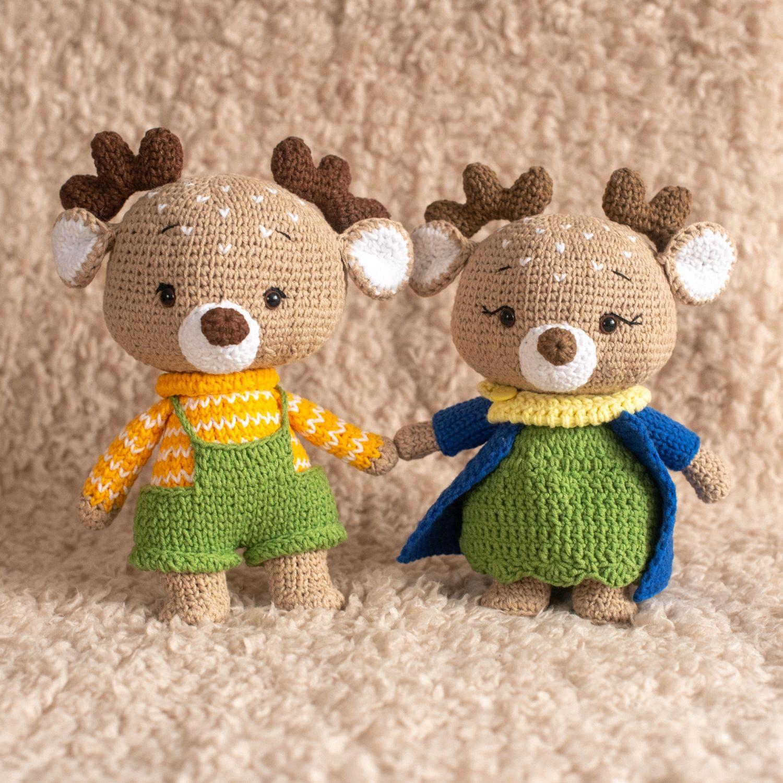 Олени, Амигуруми куклы и игрушки, Кемерово,  Фото №1
