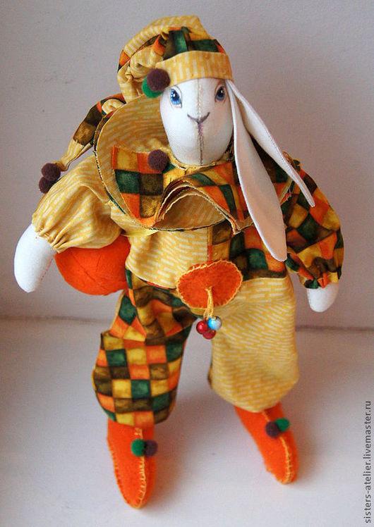 Игрушки животные, ручной работы. Ярмарка Мастеров - ручная работа. Купить Арлекин. Handmade. Рыжий, необычный подарок, игрушка заяц