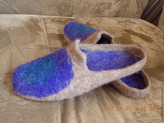 Обувь ручной работы. Ярмарка Мастеров - ручная работа. Купить настоящему мужчине :-). Handmade. Тапочки, тапки валяные