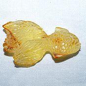 Сувениры и подарки handmade. Livemaster - original item Goldfish made of amber. The stone carvings.. Handmade.