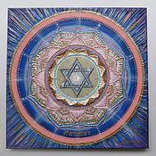 Картины и панно handmade. Livemaster - original item Mandala with Swarovski