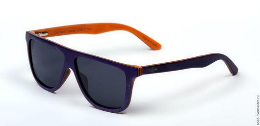 Очки ручной работы. Ярмарка Мастеров - ручная работа. Купить Деревянные многослойные очки S6012. Handmade. Комбинированный, эбен