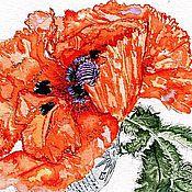 Картины и панно ручной работы. Ярмарка Мастеров - ручная работа Мак-пламя весны. Handmade.