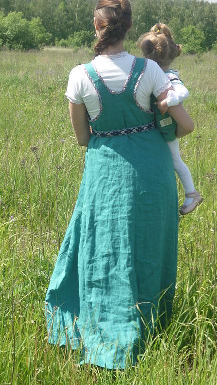 Этническая одежда ручной работы. Ярмарка Мастеров - ручная работа. Купить Сарафан косоклинный. Handmade. Сарафан, длинное платье