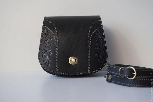 Женские сумки ручной работы. Ярмарка Мастеров - ручная работа. Купить Чёрная сумочка через плечо. Handmade. Черный