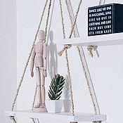 """Мебель ручной работы. Ярмарка Мастеров - ручная работа Изящная полочка """"Воздушные качели"""" / Интерьерная полка в стиле Loft. Handmade."""