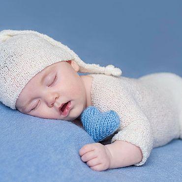 Товары для малышей ручной работы. Ярмарка Мастеров - ручная работа Комплект для фотосессии новорожденных вязаный. Handmade.