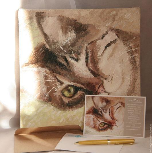 """Открытки на все случаи жизни ручной работы. Ярмарка Мастеров - ручная работа. Купить тёплая открытка """"Вы удивительное создание"""". Handmade."""