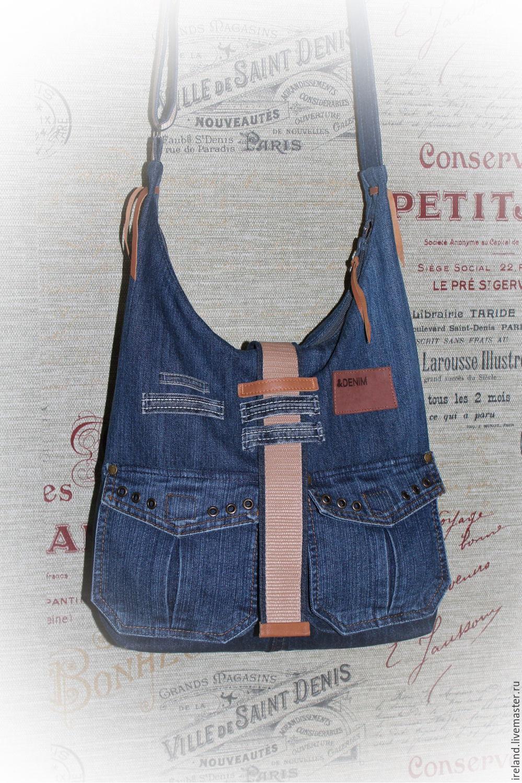 Сумка через плечо из джинсы выкройка