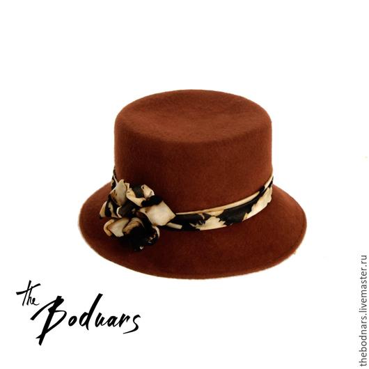 Шляпы ручной работы. Ярмарка Мастеров - ручная работа. Купить Шляпа торшер. Handmade. Фетр, фетровая шляпа, стиль, коричневый