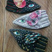 Украшения ручной работы. Ярмарка Мастеров - ручная работа Броши авторские текстильные в ассортименте. Handmade.