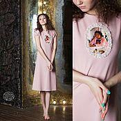 """Одежда ручной работы. Ярмарка Мастеров - ручная работа Платье розовое миди """"Девочка с персиками"""" Серов. Handmade."""