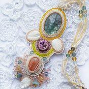 Украшения handmade. Livemaster - original item Necklace with fluorite and carnelian. Handmade.