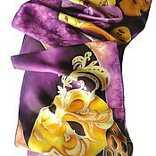 Аксессуары handmade. Livemaster - original item Batik Scarf Face Mask. Handmade.