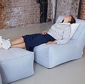 Для дома и интерьера ручной работы. Ярмарка Мастеров - ручная работа Модульное кресло с наклонном спинкой и пуфом. Handmade.