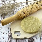 Для дома и интерьера ручной работы. Ярмарка Мастеров - ручная работа Скалка перья. Подарок по любому поводу. Handmade.