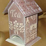 Для дома и интерьера ручной работы. Ярмарка Мастеров - ручная работа Чайный домик « Пряничный город ». Handmade.
