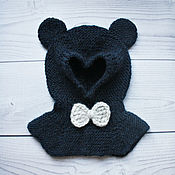Работы для детей, handmade. Livemaster - original item Sleek-bear on boy (dark blue). Handmade.