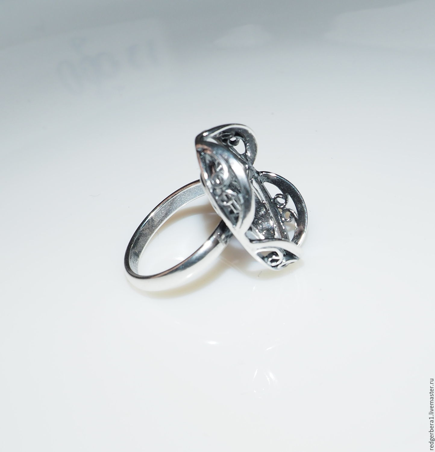 """The basis for the ring of """"barbarian"""" 20h15 silver 925 – shop"""