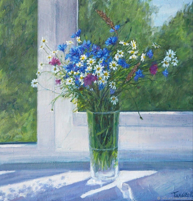 Картина Цветы на окне, Картины, Иваново,  Фото №1