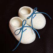 Обувь ручной работы handmade. Livemaster - original item Baby booties, woolen, felted.. Handmade.