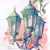 Картины и панно handmade. Livemaster - original item Watercolor Lantern sketch. Handmade.