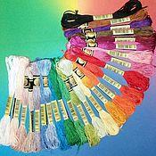 Нитки ручной работы. Ярмарка Мастеров - ручная работа НАБОР МУЛИНЕ СХС, 447 цветов, полная палитра. Handmade.