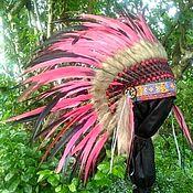 Сувениры и подарки handmade. Livemaster - original item Bohemian Indian Headdress, Native American Warbonnet. Handmade.