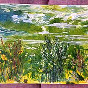 Картины и панно handmade. Livemaster - original item The landscape on the green.. Handmade.
