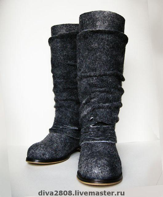 Handmade Shoes handmade. Livemaster - handmade. Buy Boots felted 'Melange trails'.The author's work, designer boots