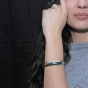 Украшения handmade. Livemaster - original item Minima Series Feather Cuff Bracelet in polished silver ASH0013. Handmade.