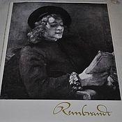 """Винтаж ручной работы. Ярмарка Мастеров - ручная работа Альбом """"Рембрандт"""" Альбом на немецком 1958 год. Handmade."""