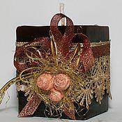 Сувениры и подарки ручной работы. Ярмарка Мастеров - ручная работа Свеча «Розы в шоколаде». Handmade.